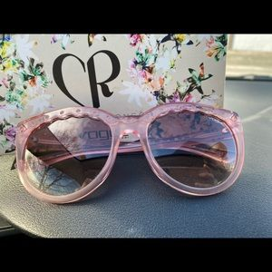 Vogue by Charlotte Robinson. Pink Sunglasses
